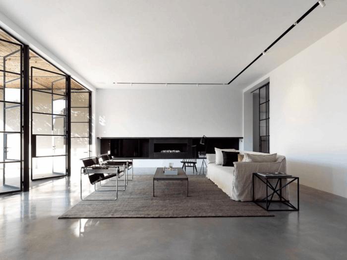 minimalistisch wohnen modernes wohnzimmer einrichten natürliche farben
