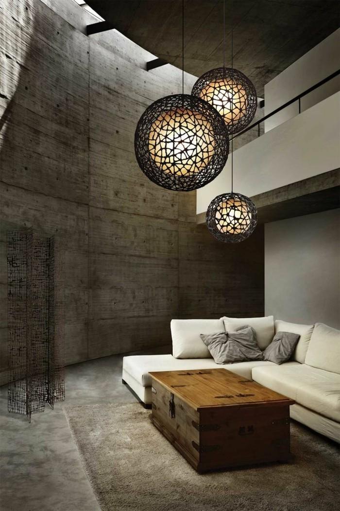 minimalistisch wohnen schöne wohnzimmereinrichtung