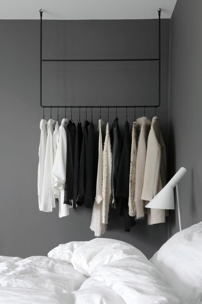 minimalistisch wohnen schlafzimmer stauraum ideen