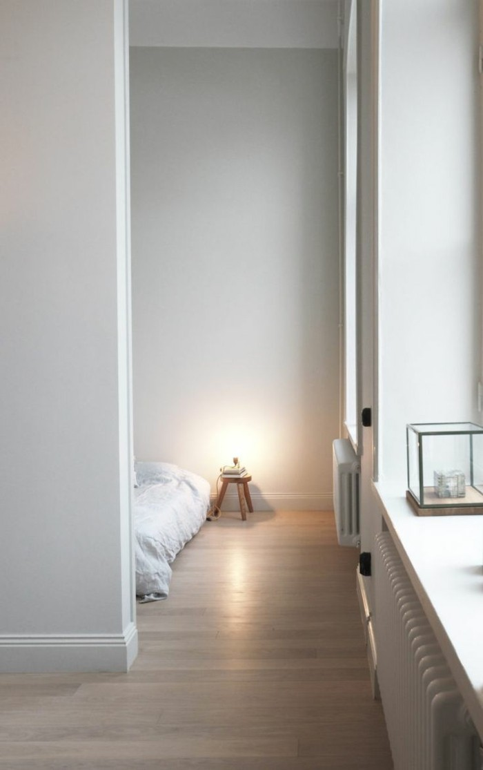 minimalistisch wohnen wohnideen schlafzimmer kreativ gemütlich