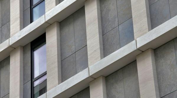 mit großen Fenstern Granitplatten moderne Häuser bauen