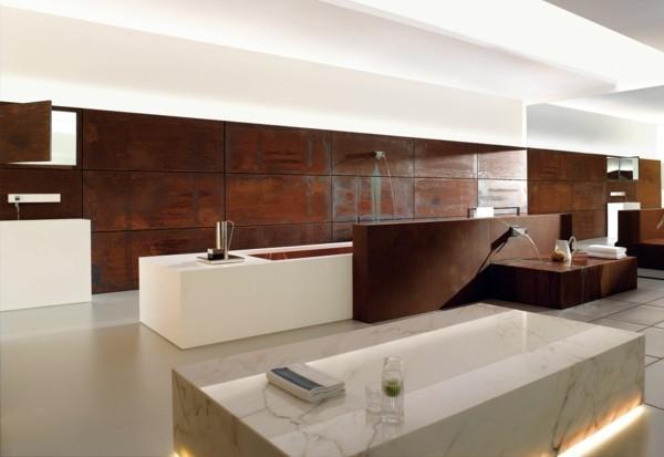 modern einrichten badezimmer design patina effekt
