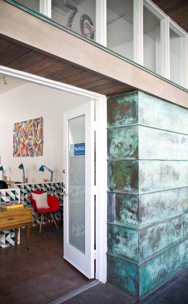 modern einrichten patina effekt außenfassade