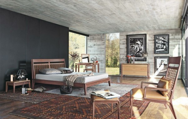 modern einrichten wohnzimmer zimmerdecke patina effekt