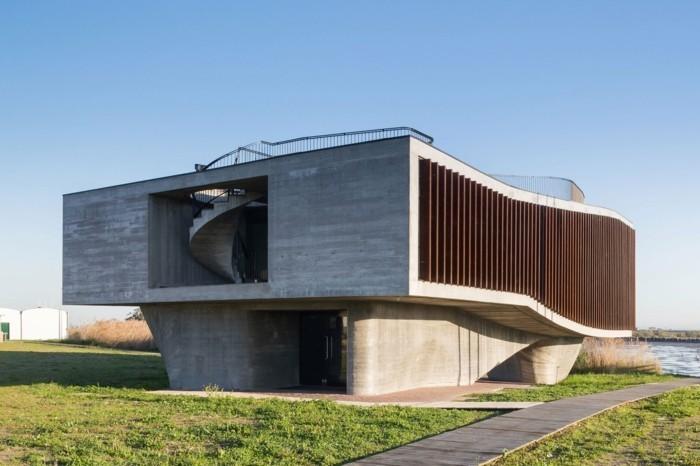 moderne Architektur Fassade Feld