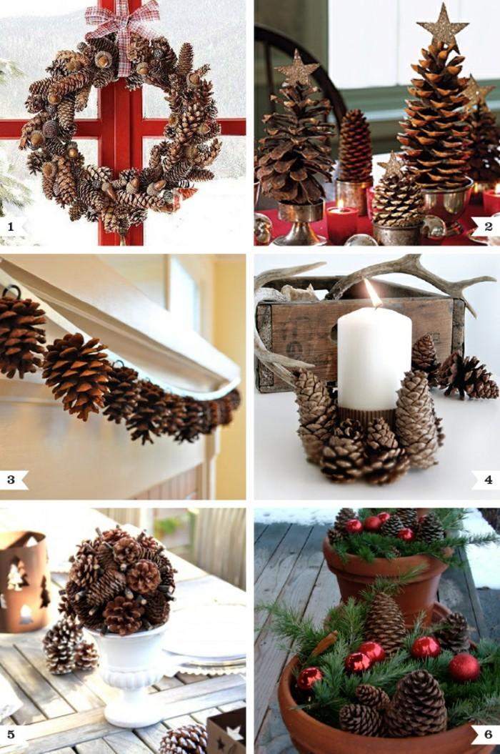 naturmaterialien balsten mit zapfen weihnachten advent