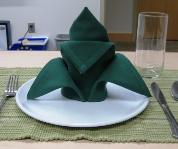 origami servietten falttechnik blume