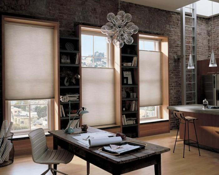 home office mit dachfenster ideen bilder, plissees für fensterverdunkelung und fensterschmuck - 34 frische, Design ideen