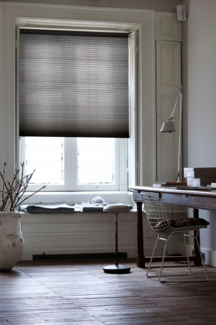 plissees moderne wohnideen heimbüro gestalten