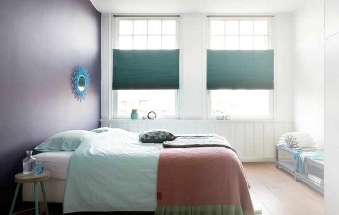 plissees scchlafzimmer einrichten verdunkeln und dekorieren