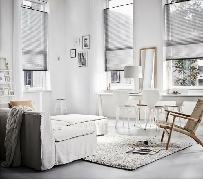 plissees wohnzimmer ideen fenster gestalten
