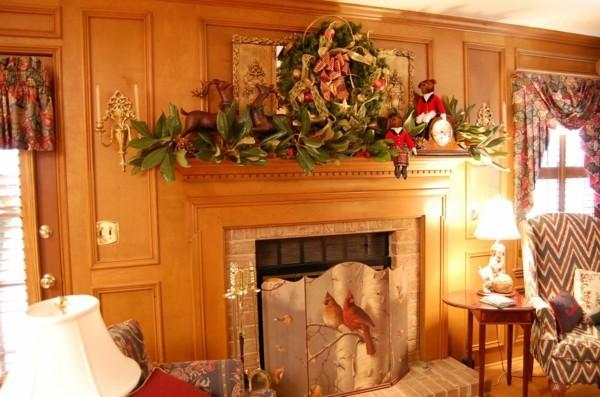 prachtvoll weihnachtskamin dekorieren deko gestaltung