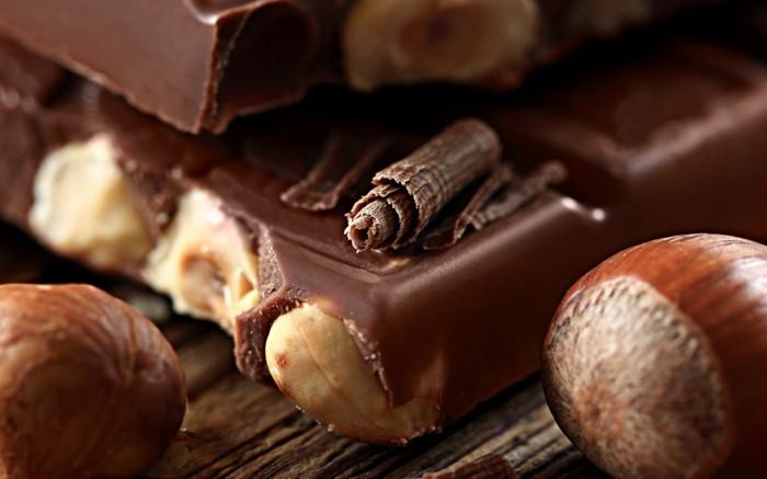 schkoladentafel gestalten haselnuss