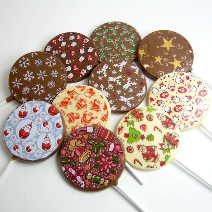 schokoladentafel gestalten schoko lolly