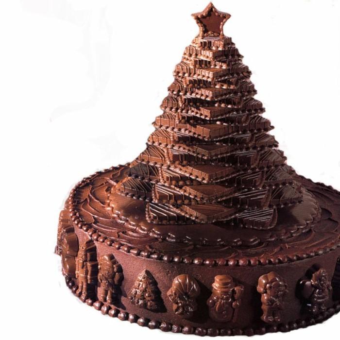 schokoladentafel gestalten torte weihnchten
