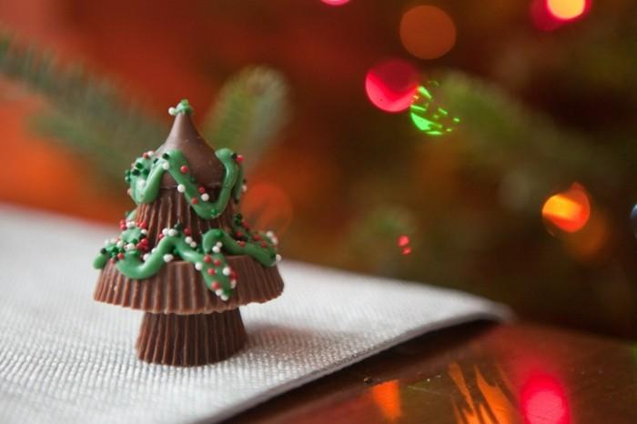 schokoladentafel gestalten weihnachtsbaum