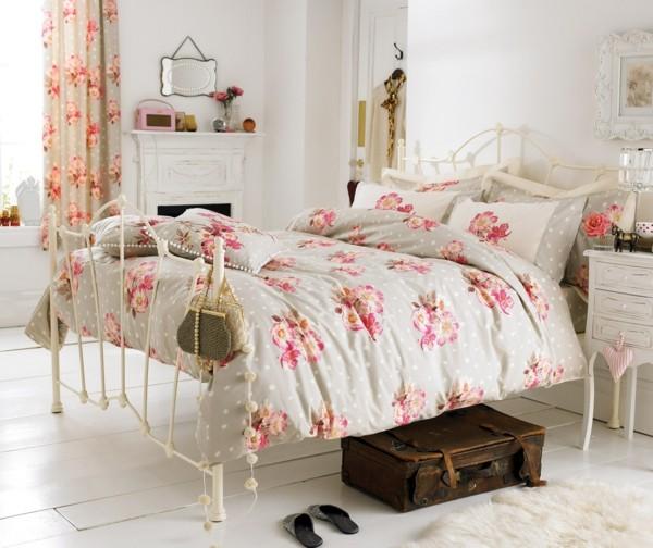 schlafzimmer einrichten shabby chic deko selber machen