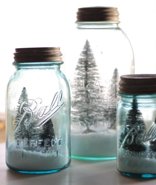 schneelandschaften tolle ideen geschenke aus dem glas basteln mit kindern