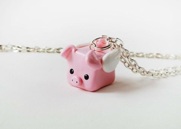 schweinchen diy geschenk basteln mit fimo