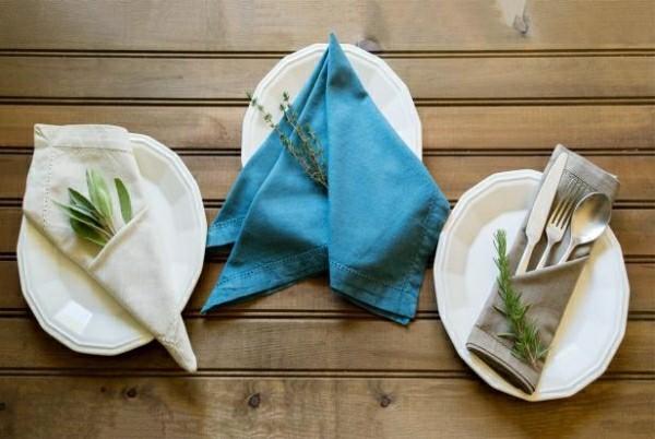servietten falttechnik einfache ideen
