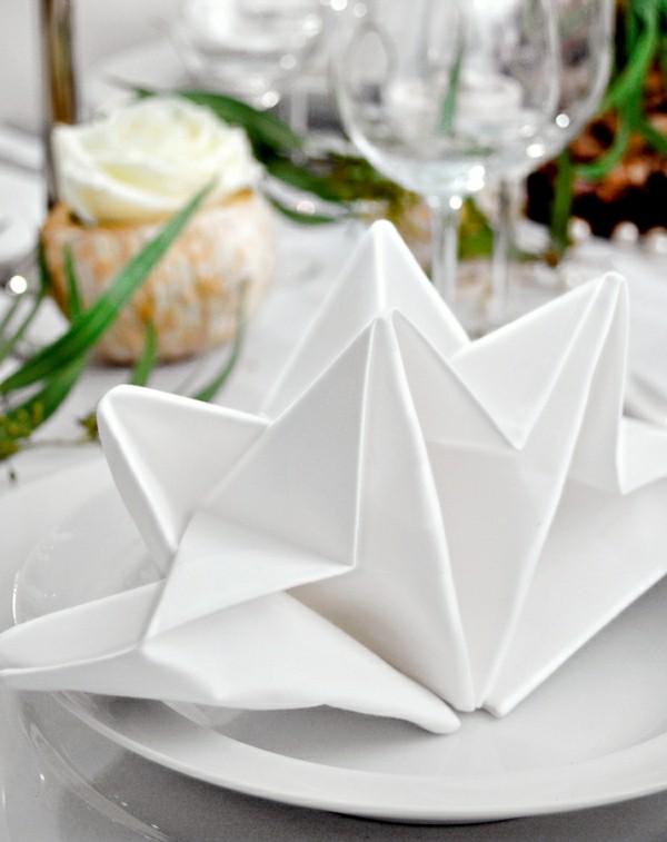 serviettenfalttechnik origami technik
