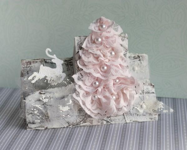 shabby chic deko selber machen weihnachtsdeko basteln