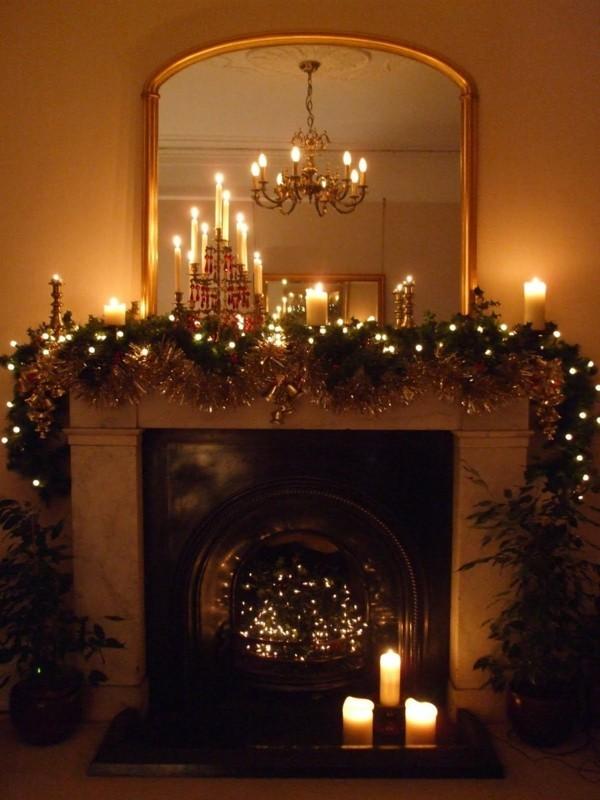 spiegelfläche weihnachtskamin weihnachten kamin deko