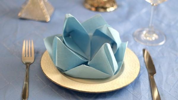tischdeko mit einfachem origami