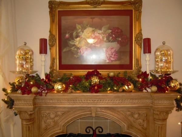 tolle zweige weihnachtskamin dekorieren deko edel
