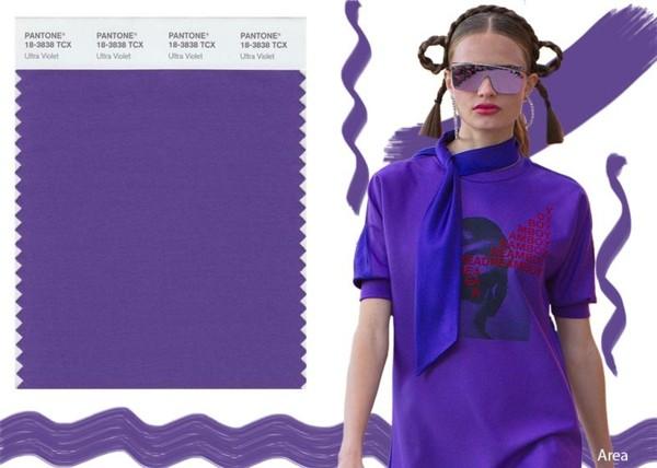 ultra violet trendfarbe 2018 pantone farbe mode trends