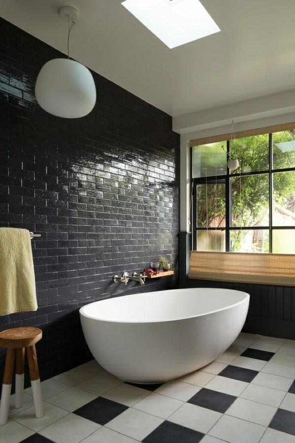 universelles badezimmer schwarz