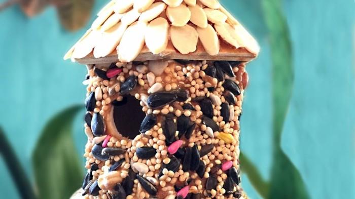 vogelfutterhaus selber bauen samen