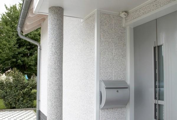 weiße Hauseinrichtung Granitplatten Fassadenplatten