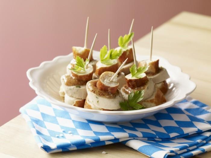 weißwurstsalat bayerische kueche idee