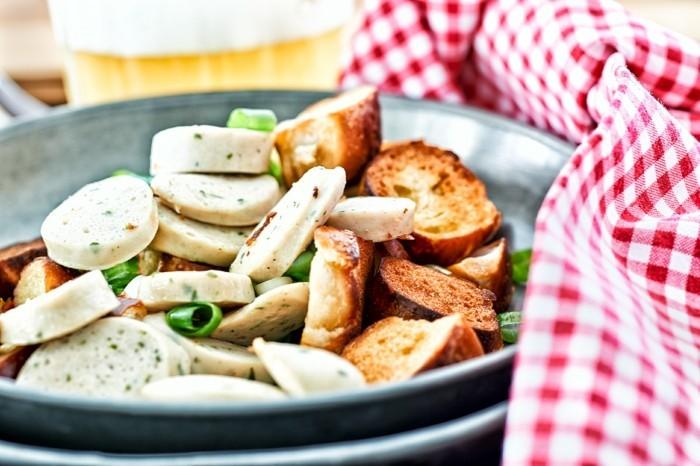 weißwurstsalat bayerische kueche radieschen