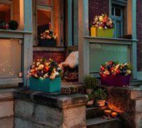 Weihnachtsdeko für Hauseingang breitet festliche Stimmung aus – 44 Outdoor Dekoideen