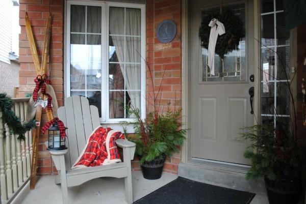 weihnachtsdeko hauseingang stilvolle dekoideen weihnachtsstimmung