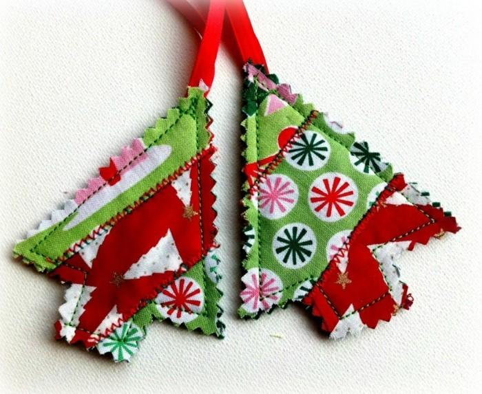 weihnachtsdeko nähen christbaum ideen frische stoffmuster