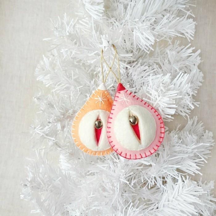 weihnachtsdeko nähen eleganter weihnachtsbaumschmuck