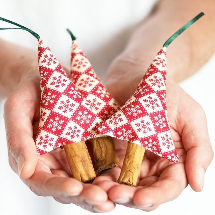 weihnachtsdeko nähen frische hängedeko selber machen tannenbäume