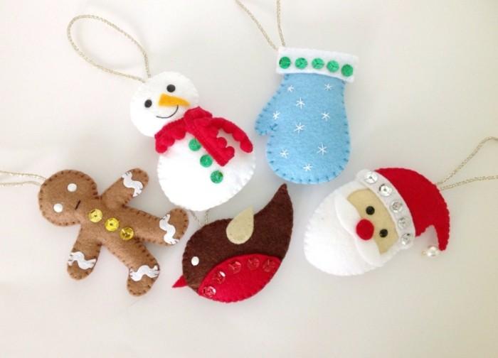 weihnachtsdeko nähen kreative bastelideen zu weihnachten