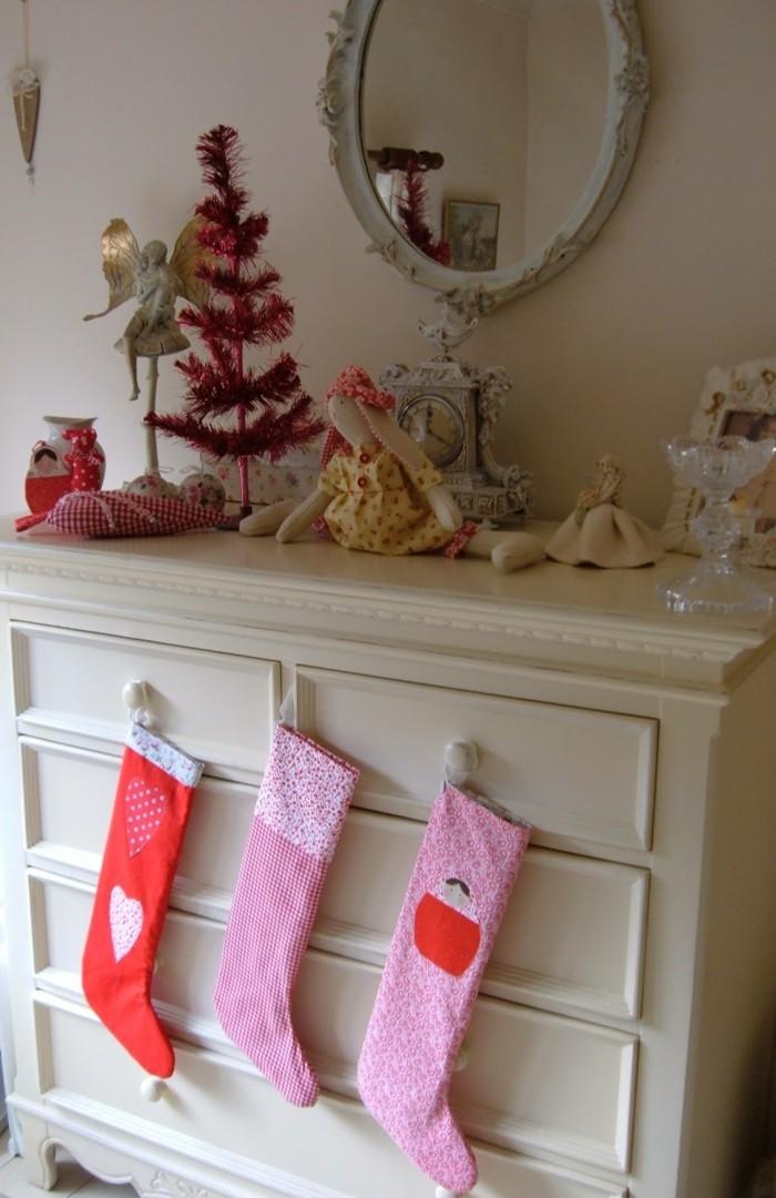 weihnachtsdeko nähen weihnachtsstrümpfe selber machen