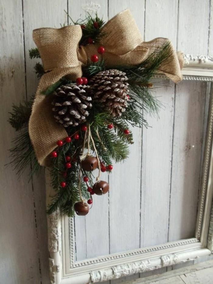 weihnachtsdekoration selber machen basteln mit zapfen