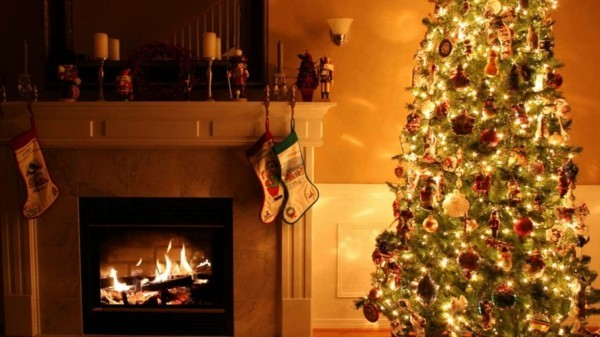 weihnachtskamin weihnachten kamin deko besinnliche stimmung