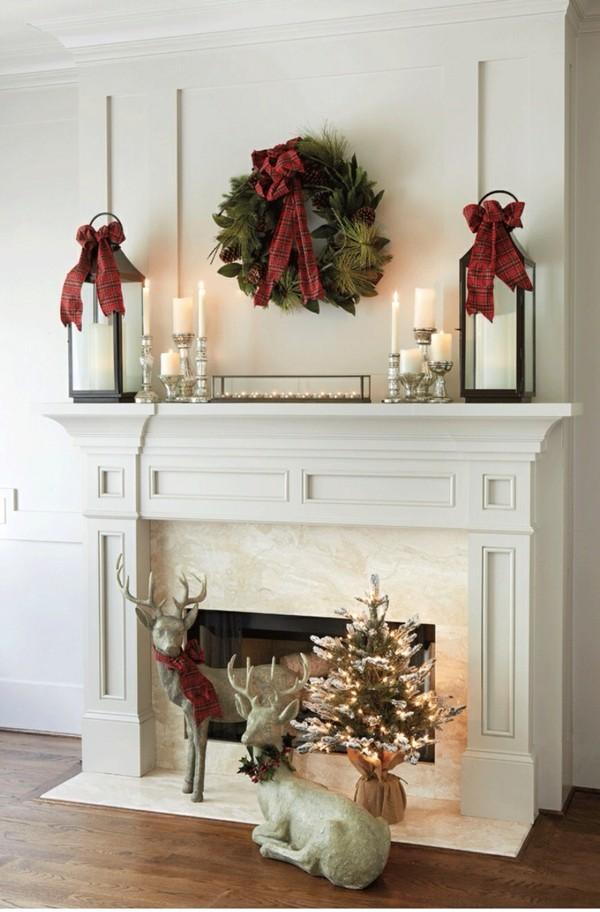 weihnachtskamin weihnachten kamin deko dezente idee