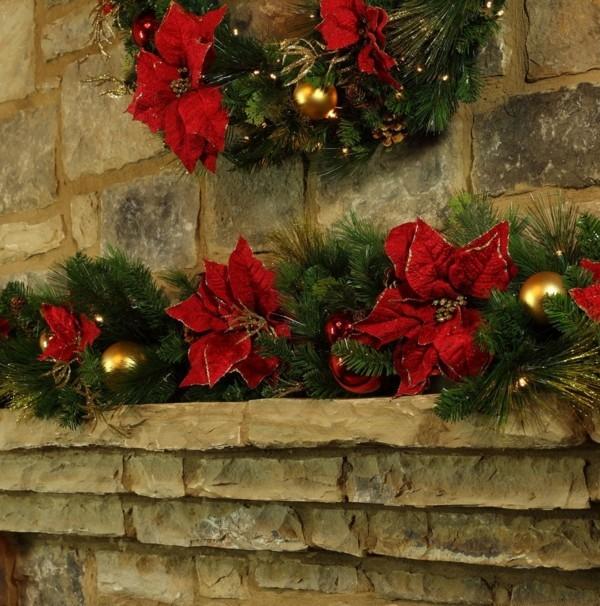 weihnachtskamin weihnachten kamin deko rustikal