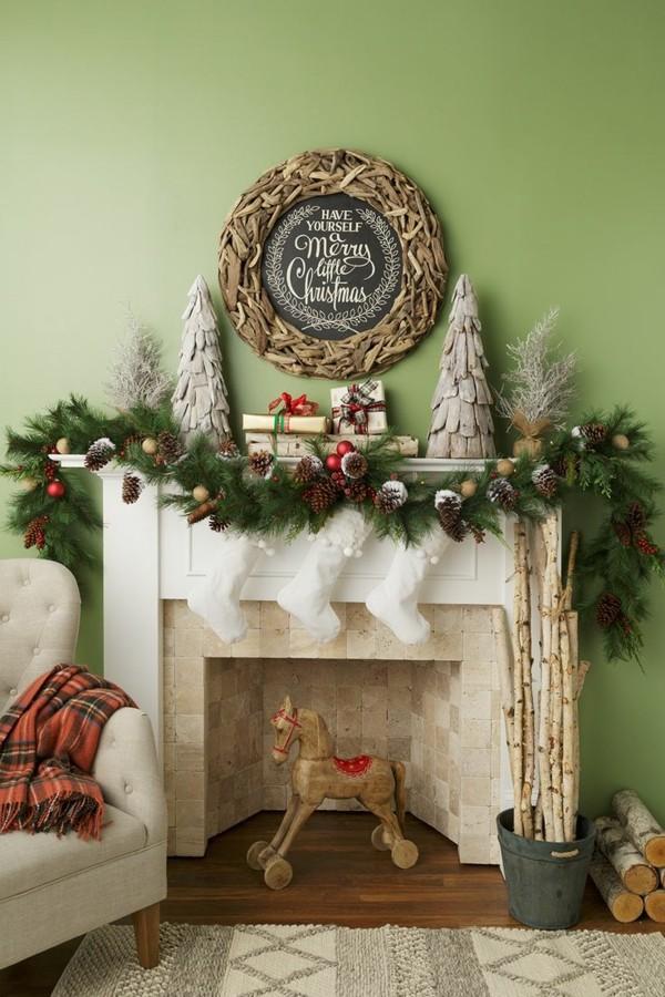 weihnachtskamin weihnachten kamin deko weihnachtskranz