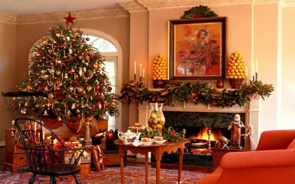 weihnachtskamin weihnachtsdeko passsend zur inneneinrichtung