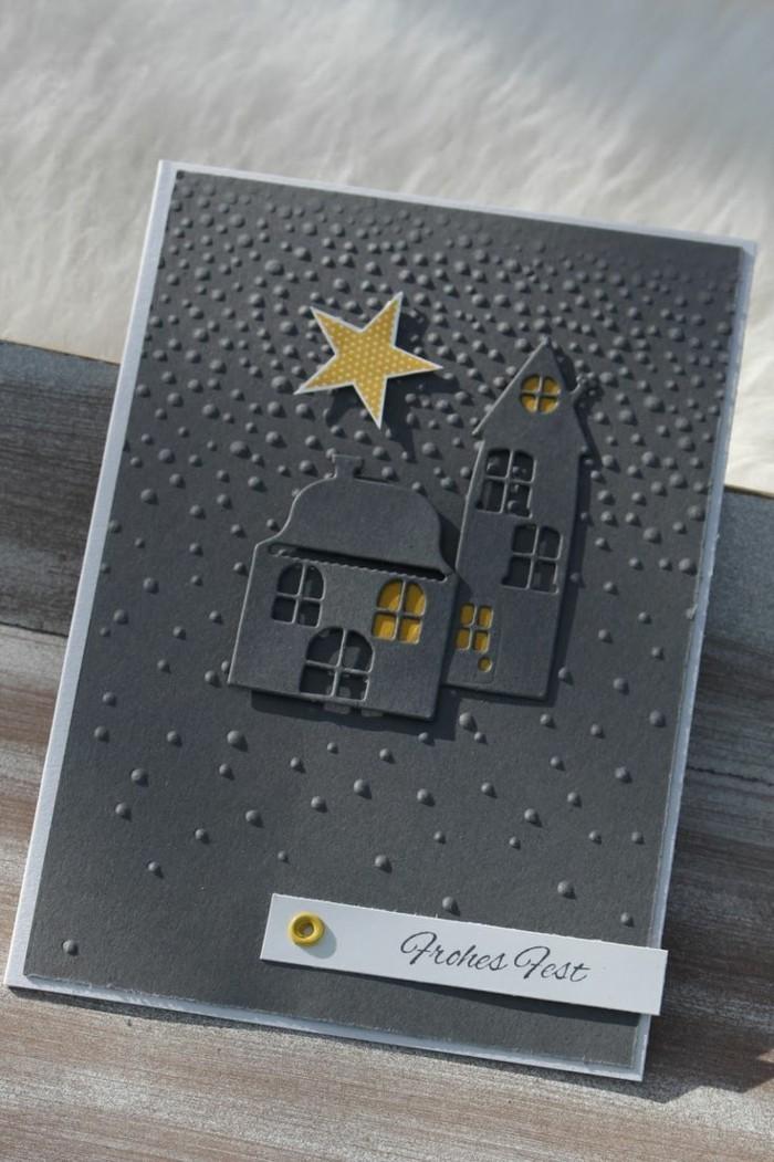 weihnachtskarte basteln scherenschnitt weihnachten cooles design