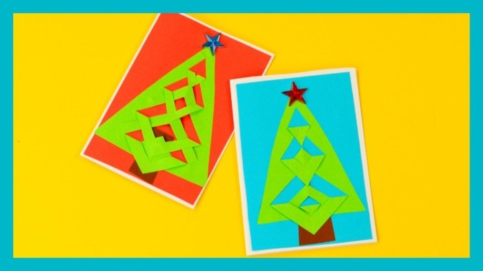 weihnachtskarte basteln scherenschnitt weihnachten einfach